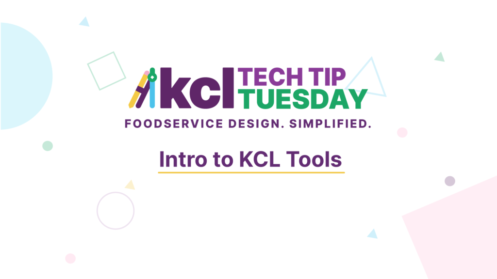 Learn to use KCL's foodservice design tools with this tutorial.